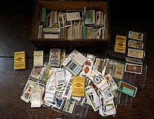 Box of assorted cigarette cards
