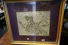 1757 Hanover Battle map metween Duke of Cumberland & Marshal D'Etrees