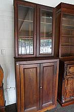Antique rustic cedar bookcase