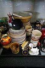 Vic black basalt tea pot & assorted china