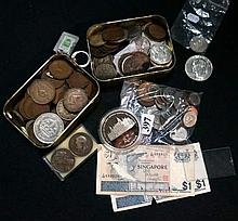 Assorted Vic & later coins & notes