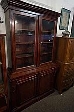 Vic mahogany 2 sectional bookcase