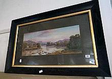 Oil painting Aus. river scene by J.F. Norton 1907