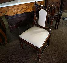Early C19th carved oak childs chair