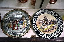 2 R/Doulton highland gamekeeper & Old Morton Hall diaplay plates, chipped