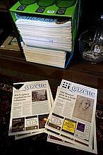 2 boxes of Antique Gazette magazines
