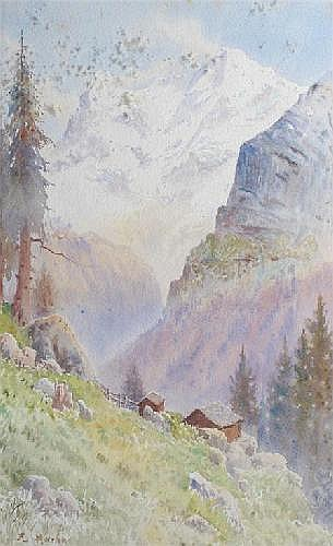 John Harwicke Lewis (1840-1970) View of the Eiger