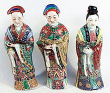 Three Fine Chinese Famille Rose Porcelain Figures