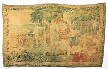 Antique Flemish Hunt Tapestry or Wall Hanging