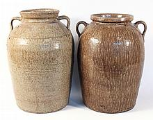 Two Fine Southern Stoneware Storage Jars