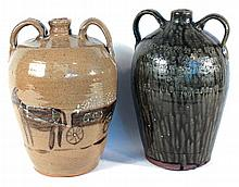 Two Southern Stoneware Decorated Jugs