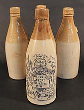 Unusual Group Southern Stoneware Beer Bottles