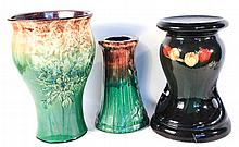 Three American Art Pottery Floor Vases