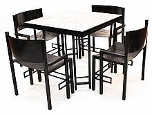 Fine Art Deco Metal Table & Chairs