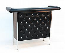 Mid-Century Chrome and Vinyl Bar
