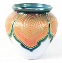 Zellique Studio Art Glass Vase, Joseph Morel