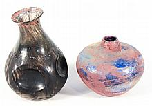 Israeli Art Glass Vases