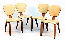 Mid-Century Laminated Chairs