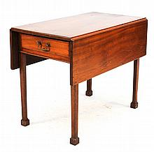 Chippendale Walnut Pembroke Table