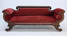 American Carved Mahogany Classical Sofa