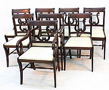 Federal Style Mahogany Dining Chairs, John Bair