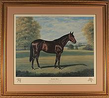 Two Richard Stone Reeves Horse Racing Lithographs