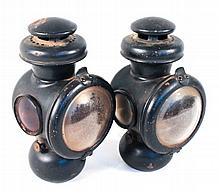 Pair of Model T Ford Kerosene Headlamps