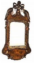 Pair English Queen Anne Style Walnut Mirrors