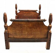 George III Carved Mahogany Bed