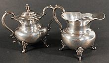 George II Style Sterling Silver Sugar and Creamer