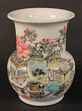19th Century Chinese Famille Rose Porcelain Vase