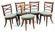 Set of Six Biedermeier Style Chairs
