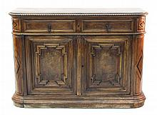 French Empire Carved Walnut Server