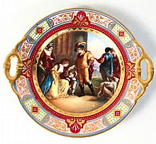 Royal Vienna Gilt, Hand-Painted Porcelain Plate