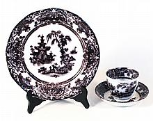 Flow Mulberry Ironstone Tableware, Corean Pattern
