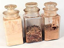 Group of Three Drugstore Apothecary Jars