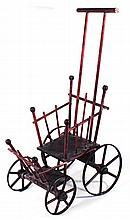 Diminutive Victorian Wood & Metal Baby Carriage