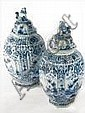 PAIR OF LIDDED JARS
