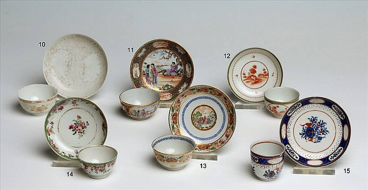 CHINESE EXPORT PORCELAIN CUP AND SAUCER