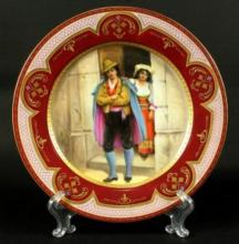 ROYAL VIENNA PLATE HAND PAINTED