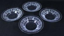 DESERT ETCHED GLASS PLATE 4PC.