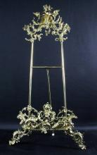 A Victorian Style Brass Easel