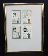FRAMED GEOGRAPHICAL PLAYING CARDS PUBLISHED IN 1830