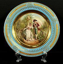 19TH C. ROYAL VIENNA PLATE