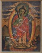 A Small Thangka Painting or Tsagli Card Painting of a Standing Buddha