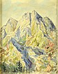 Emanuel Hosperger (1891-1984). MOUNTAIN LANDCAPE.
