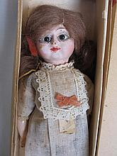 Boxed wood c1914-20s Rudolph Schneider doll