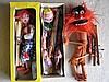 Six (6) 1960s Pelham Puppets:- Boxed Clown, Prince
