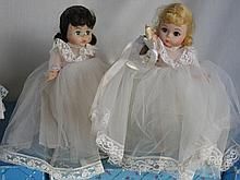 Two in box 19cm 1990s Madame Alexander Bride dolls