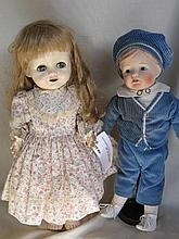 Two Dolls:- 1950s faded Pedigree Delite walker